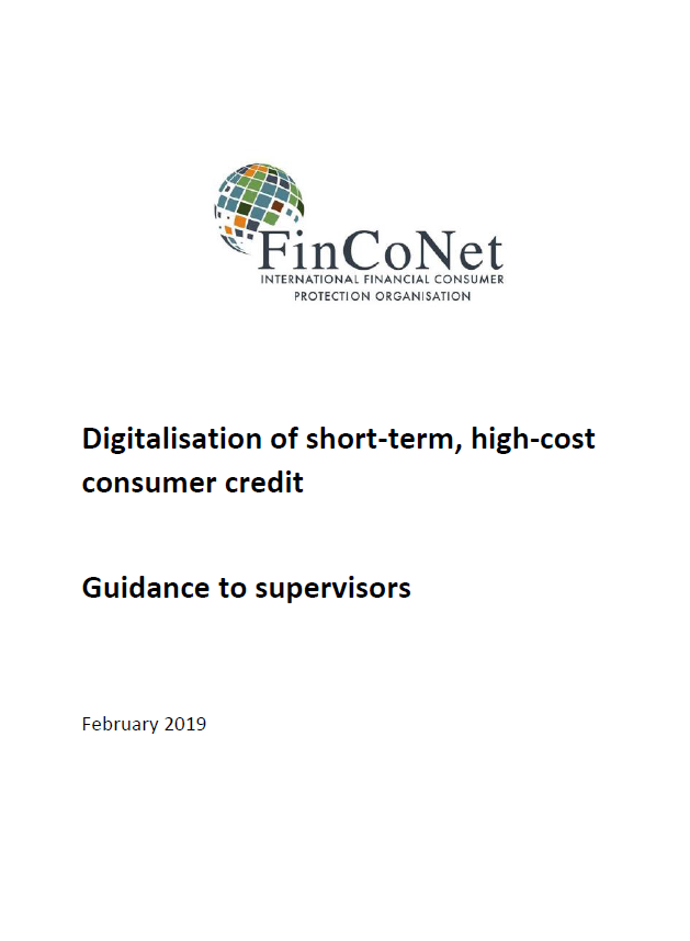 Digitalisation of short-term, high-cost consumer credit - guidance to supervisors